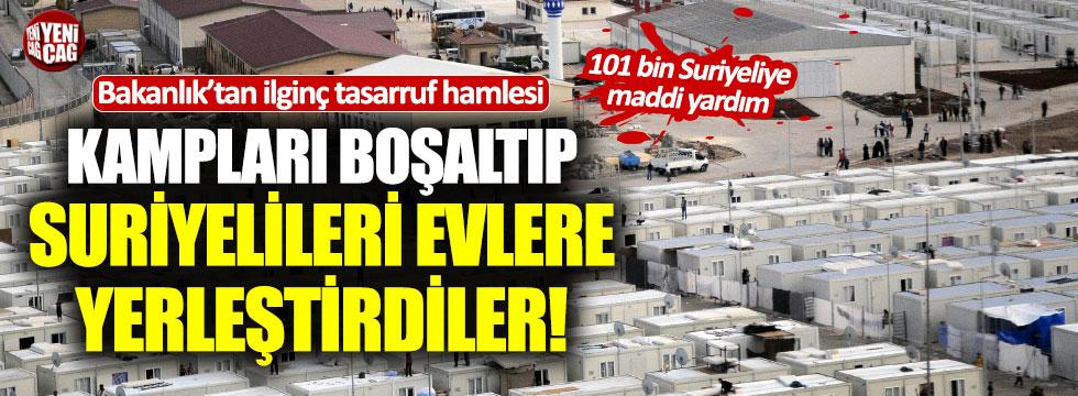 """Tasarruf: """"Barınma merkezlerini kapatıp Suriyelilere ev tuttular"""""""