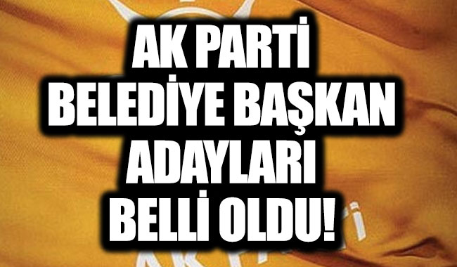 AK Parti belediye başkan adayları 2019 belli oldu!