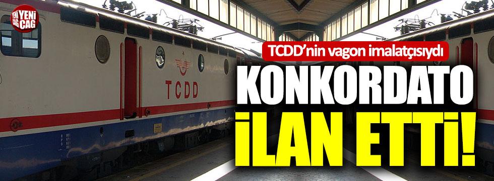 TCDD'nin vagon imalatçısı konkordato ilan etti!