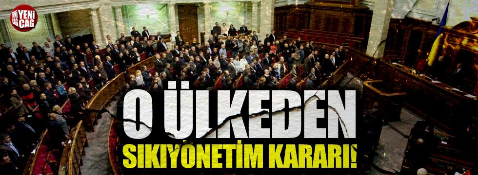 Ukrayna'dan sıkıyönetim kararı