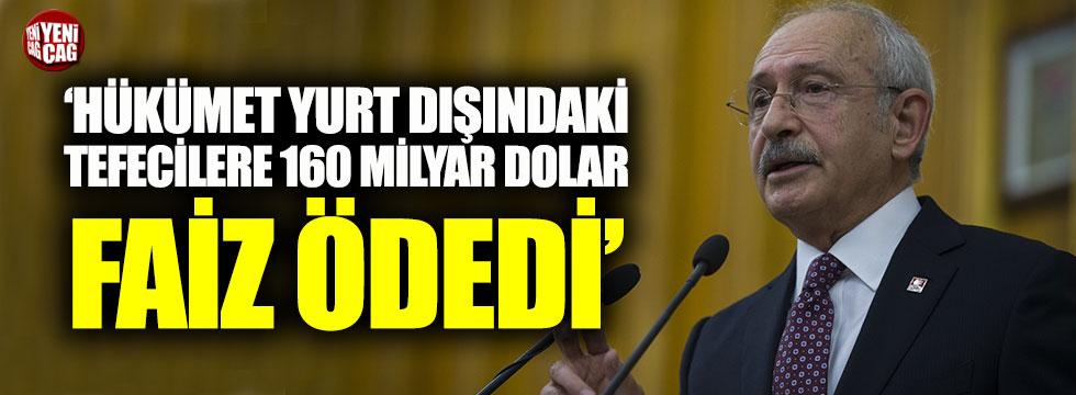 CHP Genel Başkanı Kemal Kılıçdaroğlu'ndan faiz açıklaması