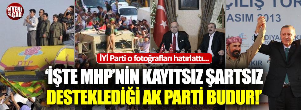 İYİ Parti, o fotoğrafları hatırlatarak, MHP'ye yüklendi