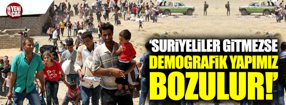 """""""Suriyeliler gitmezse demografik yapımız bozulur"""""""