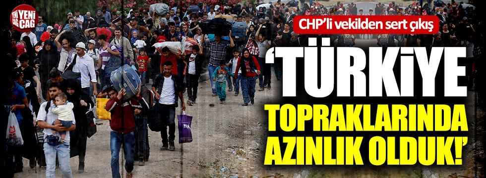 """CHP'li Erdoğdu: """"Türkiye topraklarında azınlık olduk"""""""