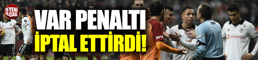 Cüneyt Çakır penaltı kararını iptal etti