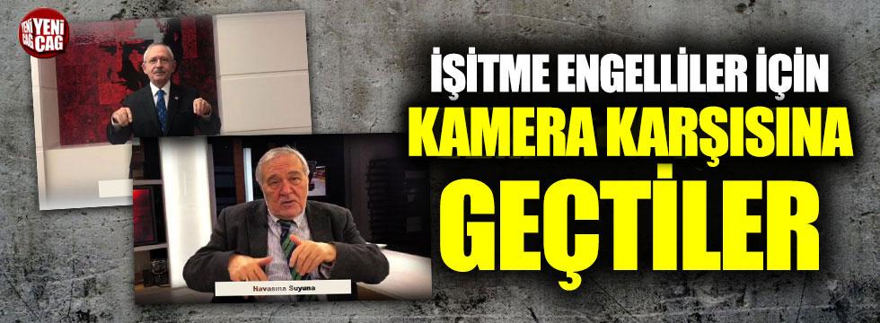 """Kılıçdaroğlu ve Ortaylı'dan işaret diliyle """"Bir Başkadır Benim Memleketim"""""""