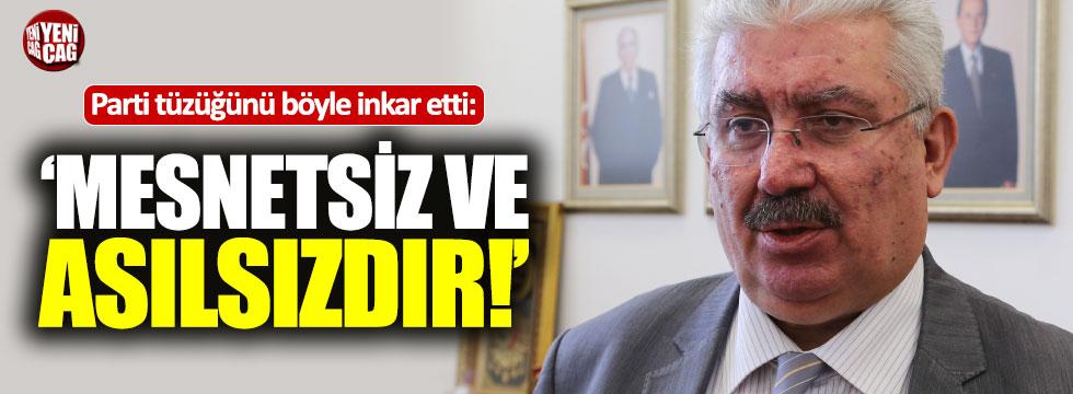 Semih Yalçın, MHP'nin tüzüğünü yalanladı