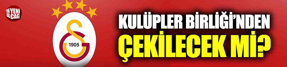 Galatasaray, Kulüpler Birliği'den ayrılıyor