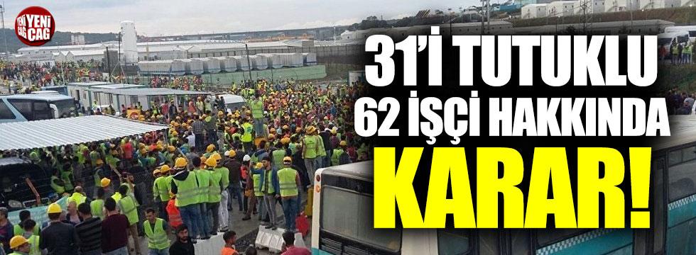 Havalimanı işçileri için tahliye kararı