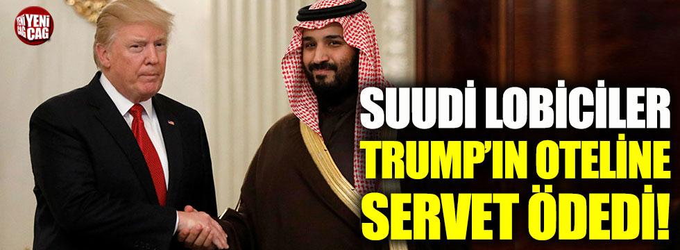 Suudi lobiciler Trump'ın otelinde kaldı