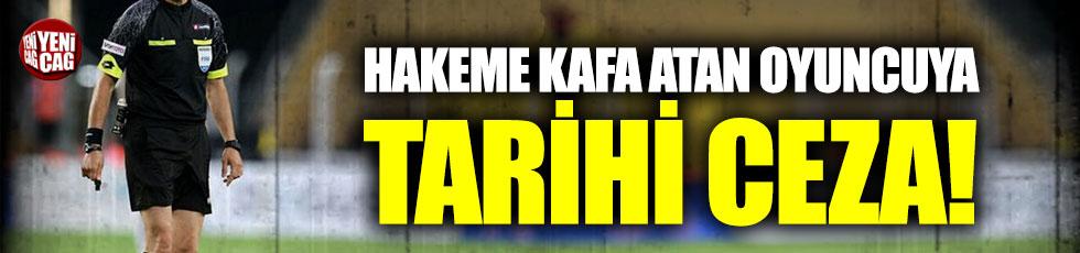 Hakeme kafa atan futbolcu Yasin Akyıldız'a tarihi ceza