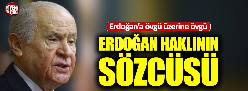Bahçeli'den Erdoğan'a övgü üzerine övgü