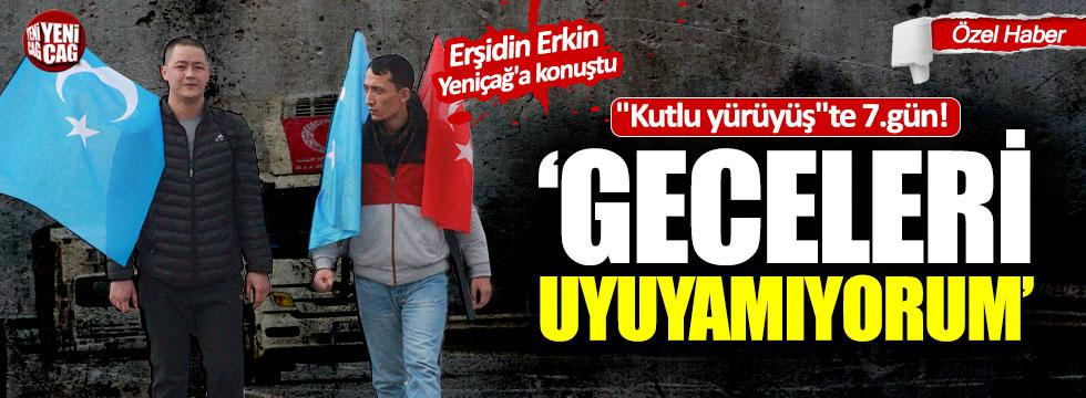 Doğu Türkistan için yürüyor