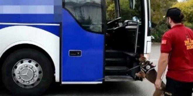 Otobüste  5 kilo 250 gram eroin ele geçirildi