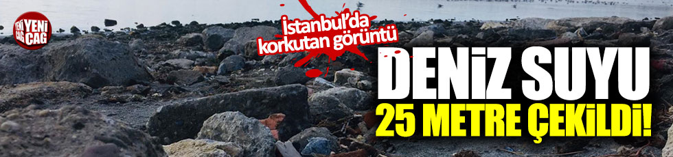 İstanbul'da deniz suyunda korkutan çekilme!