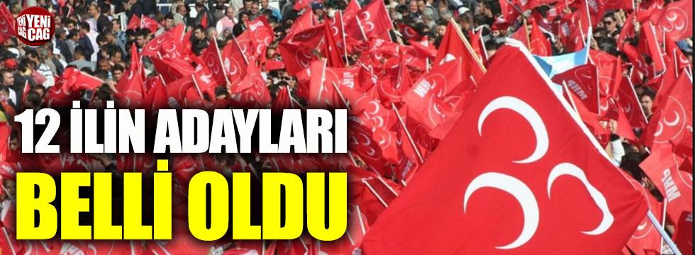 MHP 12 il için adaylarını açıkladı