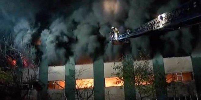 Maltepe'de plastik fabrikasında yangın çıktı!