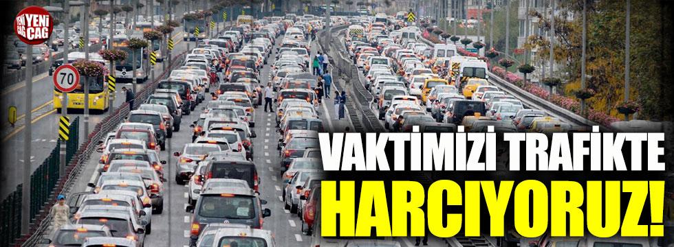 İstanbul'da yılın 59 saati trafikte geçiyor