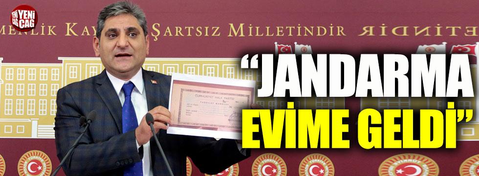 Jandarma, CHP'li Aykut Erdoğdu'nun evinde durum tespiti yaptı