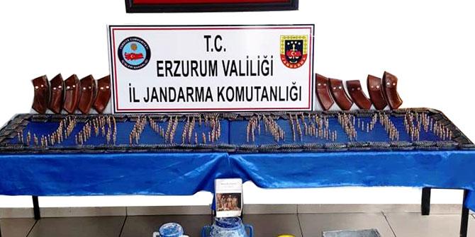 Erzurum'da PKK'lı teröristlere ait mühimmat ele geçirildi