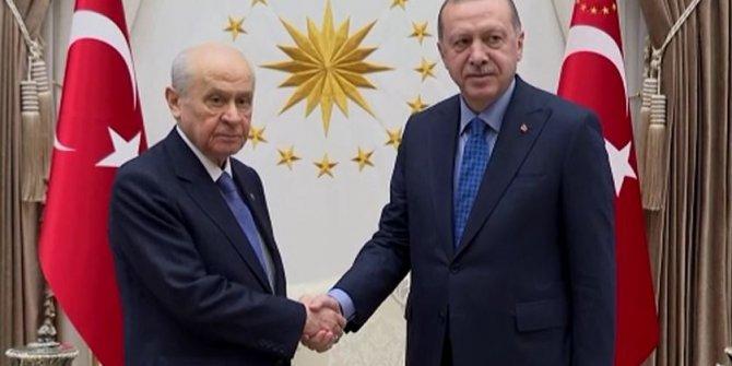 Erdoğan-Bahçeli görüşmesi sona erdi
