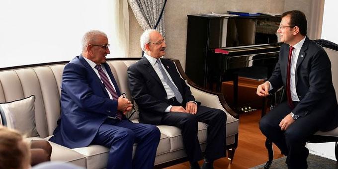 Kemal Kılıçdaroğlu Ekrem İmamoğlu'nu evinde ziyaret etti