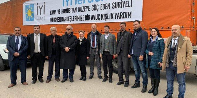 İYİ Parti'den Hama-Humus Türkmenlerine Yardım