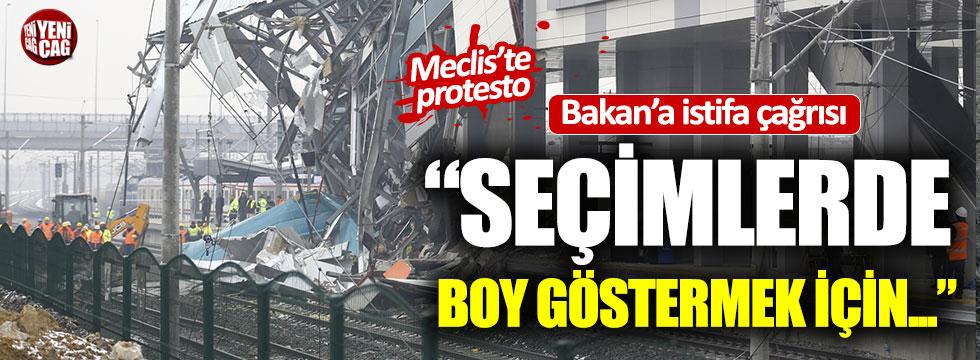 Ulaştırma Bakanı Turhan'a Meclis'te istifa çağrısı!