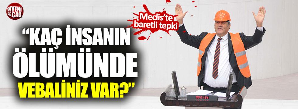 CHP'li Gürer'den TBMM'de baretli tepki