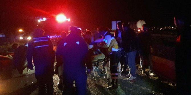 Takla atan otomobildeki baba öldü, eşi ve kızı yaralandı!