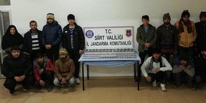 Siirt'te 14 düzensiz göçmen yakalandı