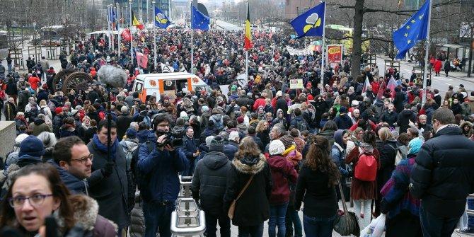 Belçika'da göç karşıtı protesto