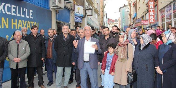 Konya'da AKP ilçe örgütünden genel merkeze tepki