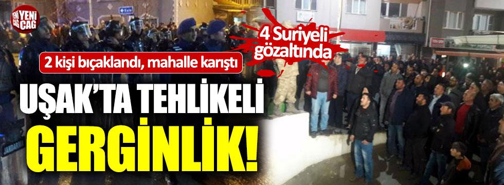 Uşak'taki tehlikeli gerginlikte 4 Suriyeli gözaltında
