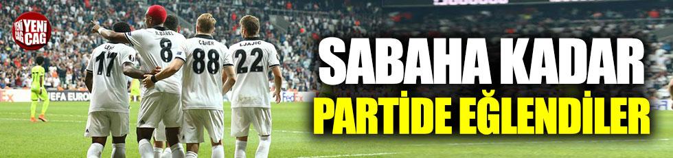 Beşiktaşlı oyuncular sabaha kadar parti yaptı iddiası