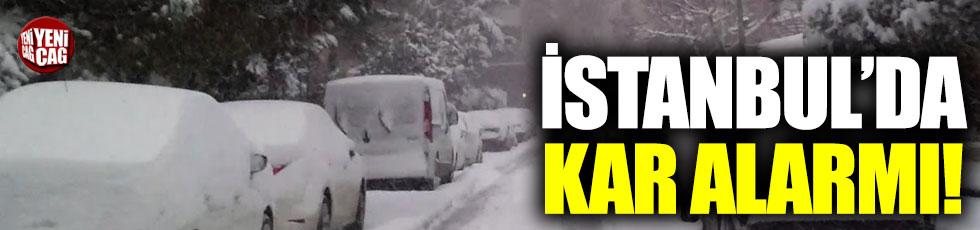 İstanbul'da kar alarmı başladı