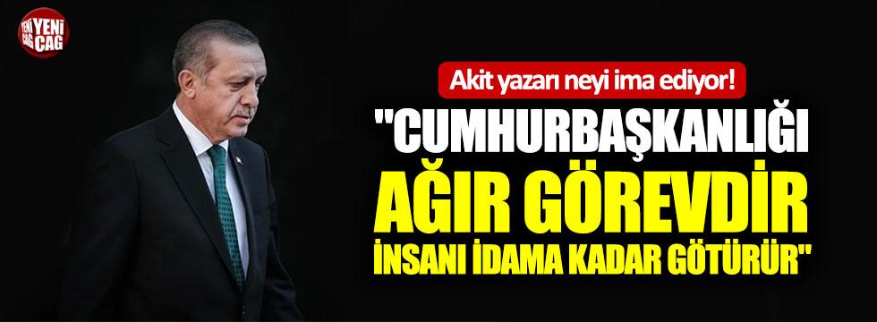 Yavuz Bahadıroğlu: Cumhurbaşkanlığı ağır görevdir, idama kadar götürür!