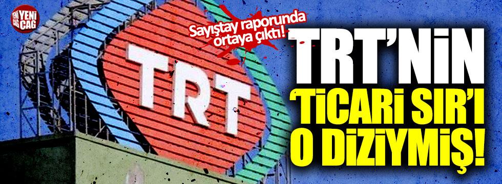 TRT'nin 'ticari sır'ı o diziymiş!