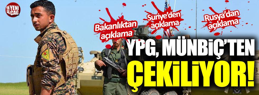YPG Münbiç'ten çekiliyor