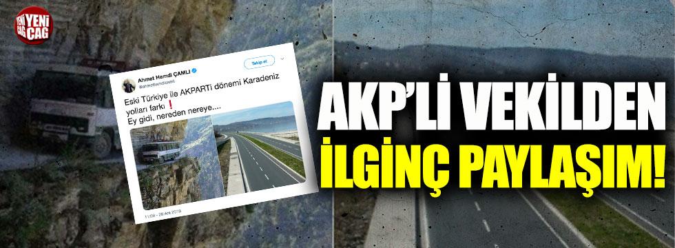 AKP'li  vekilin paylaştığı fotoğraf tartışma yarattı