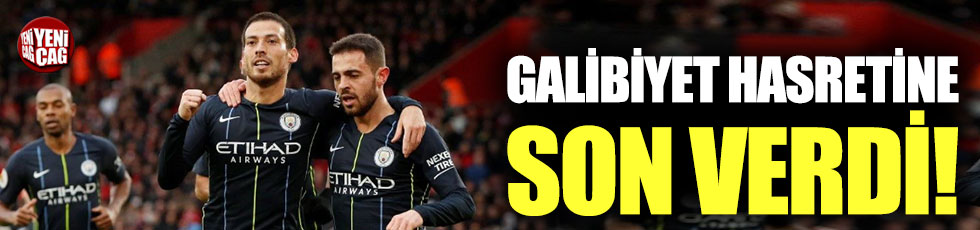 Manchester City, galibiyet hasretine son verdi