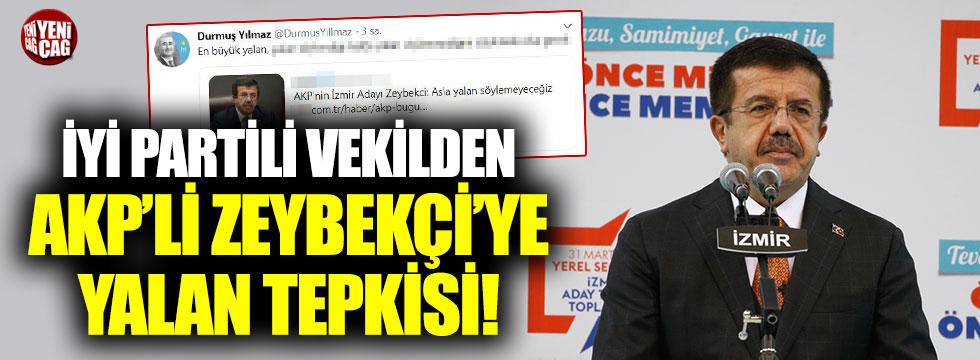 Durmuş Yılmaz'dan Zeybekçi'ye yalan tepkisi