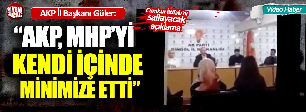"""AKP'li İl Başkanı: """"AKP, MHP'yi kendi içinde minimize etti"""""""