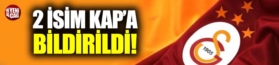 Galatasaray Marcao ve Taşdemir'i kapa bildirdi