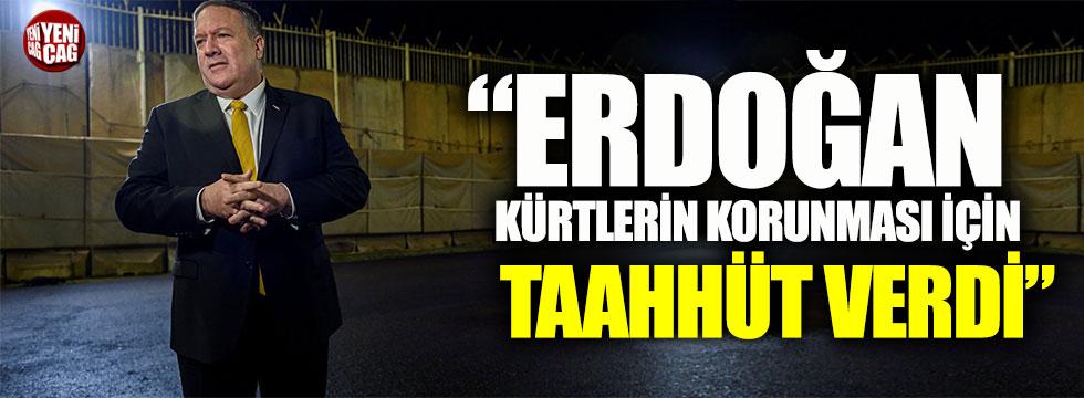 Mike Pompeo: Erdoğan Kürtlerin korunması için taahhüt verdi