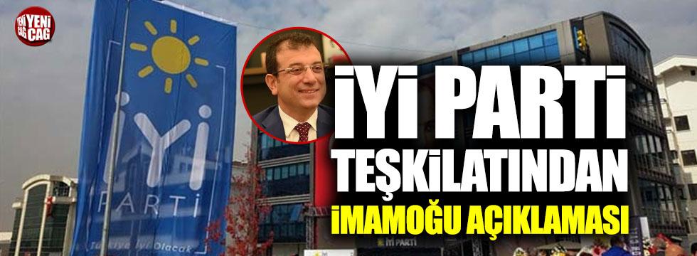 İYİ Parti teşkilatından İmamoğlu açıklaması!