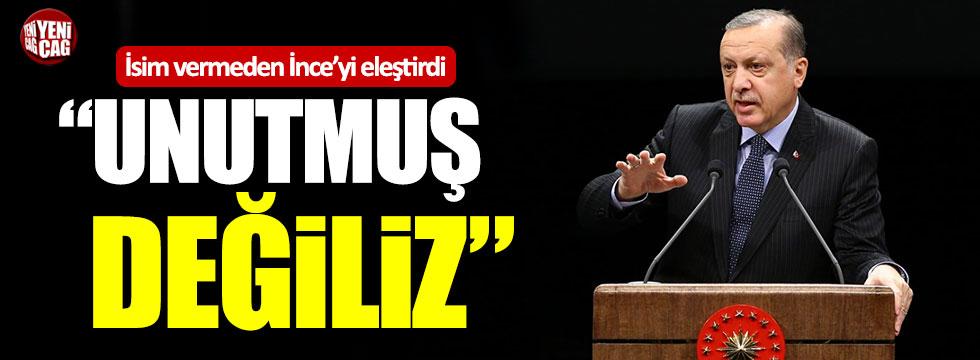 Cumhurbaşkanı Erdoğan'dan Muharrem İnce'ye eleştiri!