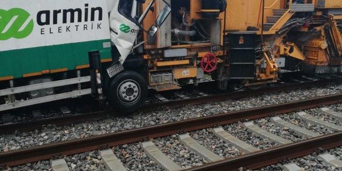 Florya'da tren kazası