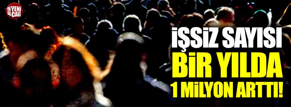 İşsiz sayısı bir yılda 1 milyon kişi arttı!