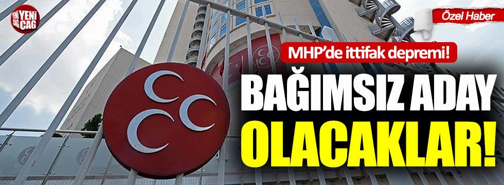 MHP'de ittifak depremi: Bağımsız aday olacaklar
